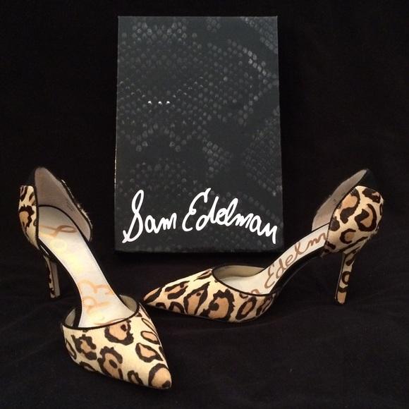 5cc3e7488034 Sam Edelman Delilah leopard pumps. M 5bc531e9c2e9fe3fd14edc47